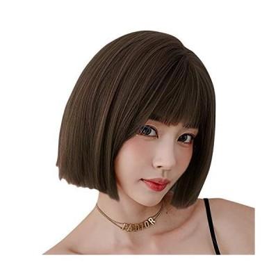 ウィッグ レディース ショート カツラ ULSTAR ストレート フルウィッグ 女性 つけ毛 かつら 違和感がない 軽い 耐熱 小顔効果 (