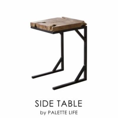 サイドテーブル 木製 コの字 ソファ ベッド インダストリアル