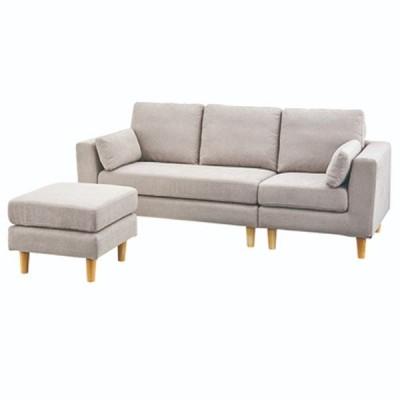 カウチソファ 幅190cm 3人掛け ソファー 椅子 ファブリック 贅沢 座り心地 ゆったり トルエ SS-122BR SS-122BE