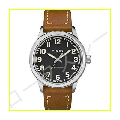 Timex Men's TW2R82100 New England Brown/Black Leather Strap Watch 並行輸入品