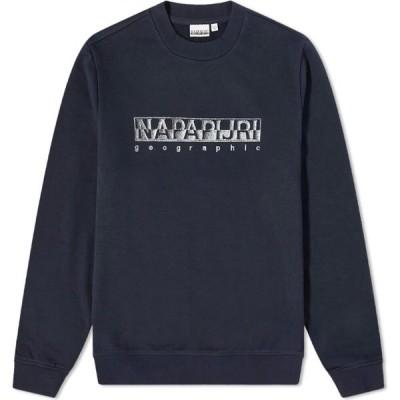 ナパピリ Napapijri メンズ スウェット・トレーナー ボックスロゴ トップス Ballar Box Logo Crew Sweat Blue Marine