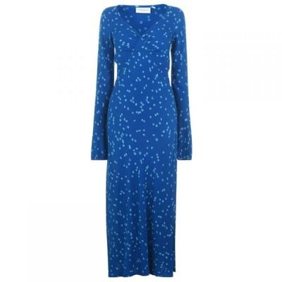 ファビエンヌ シャポット Fabienne Chapot レディース パーティードレス マキシ丈 ワンピース・ドレス Doris Floral Maxi Dress Blue