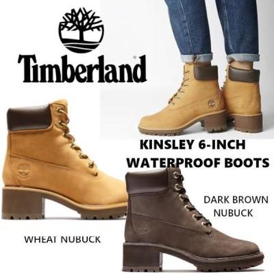 TIMBERLAND KINSLEY 6-INCH WATERPROOF BOOTS ティンバーランド 6ホール チャンキーヒール ショートブーツ レディース ヌバック US正規品 送料無料 直輸入