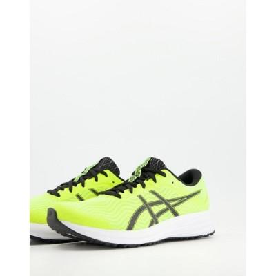 アシックス Asics メンズ ランニング・ウォーキング シューズ・靴 Running Patriot 12 trainers in yellow and black ブラック