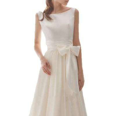 ウェディングドレス シンプル 軽系 ロングドレス レディース 白いドレス 上品 披露宴 ブライダル30代 40代 50代 ワンピース ピアノ演奏会 結婚式 ワンピース