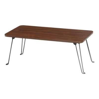 不二貿易 折脚 ローテーブル 8040 P604 BR