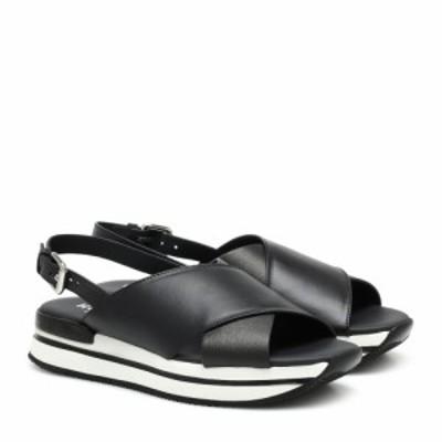ホーガン Hogan レディース サンダル・ミュール シューズ・靴 H257 leather sandals Nero