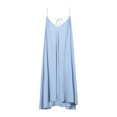WEILI ZHENG 7分丈ワンピース・ドレス スカイブルー S ポリエステル 100% 7分丈ワンピース・ドレス