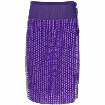 DRIES VAN NOTEN/ドリス ヴァン ノッテン Purple Dries van noten sequined midi skirt レディース 秋冬2020 SCOTTA EMB 1434 ik