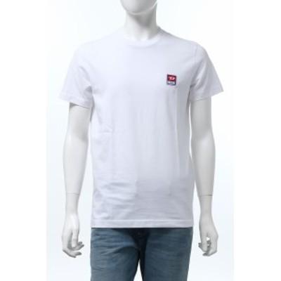 ディーゼル DIESEL Tシャツ 半袖 丸首 クルーネック T-DIEGO-DIV MAGLIETTA ホワイト メンズ (00SZ7W 0PATI)