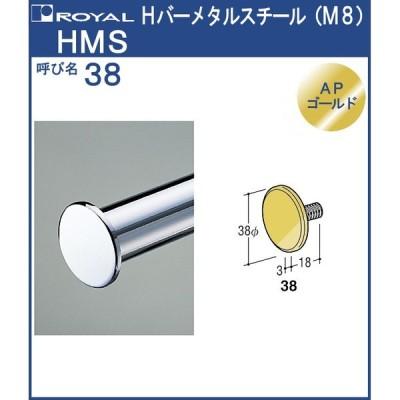 パイプ Hバー メタル スチール ロイヤル APゴールド HMS-38 サイズ:φ38×3t×M8
