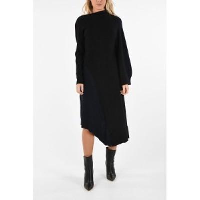 LOEWE/ロエベ Black レディース Asymmetrical Midi Dress dk