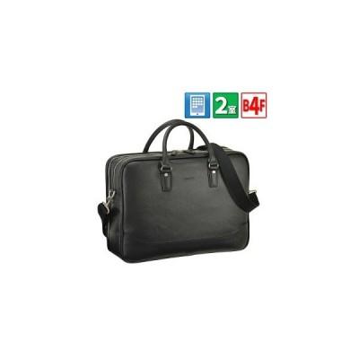 ビジネスバッグ メンズ ブリーフケース B4 A4 2ルーム 2室式 ショルダー付き HAMILTON #26628★