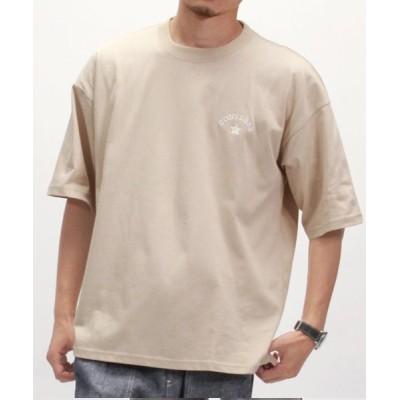 【Amerikaya】  コンバース アーチロゴ 刺繍 半袖 Tシャツ ユニセックス ユニセックス ベージュ XL Amerikaya