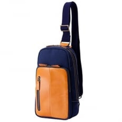 ショルダー 豊岡鞄 2号帆布 ボディバッグ (ネイビー)
