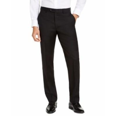 マイケルコース メンズ カジュアルパンツ ボトムス Men's Classic-Fit Airsoft Stretch Suit Pants Black Solid