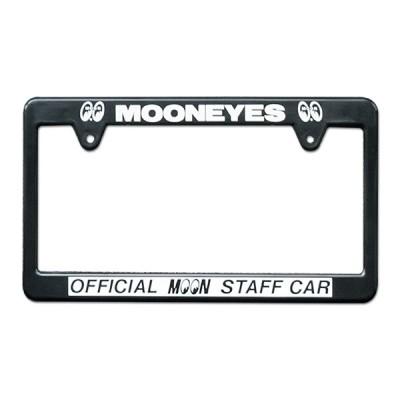 ムーンアイズ ナンバーフレーム (MOONEYES) ライセンス フレーム OFFICIAL MOON STAFF CAR