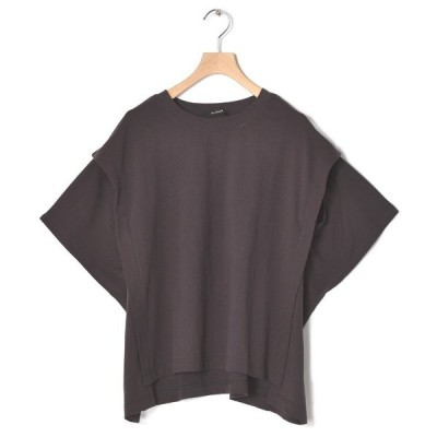 tシャツ Tシャツ クルーネックスリットスリーブプルオーバー
