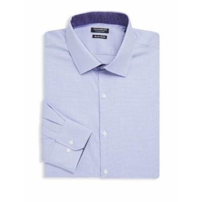 テイラーバード メンズ ドレスシャツ ワイシャツ Destrehan Trim-Fit Printed Cotton Dress Shirt