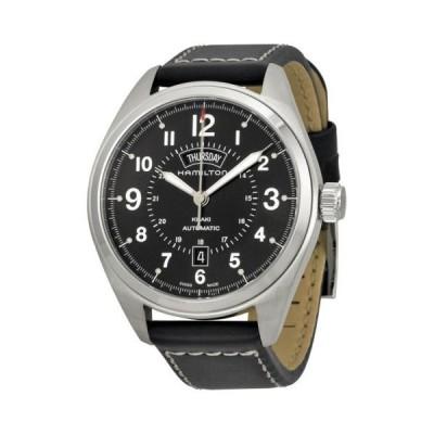 腕時計 ハミルトン Hamilton カーキ Field Blacl ダイヤル ブラック レザー メンズ 腕時計 H70505733