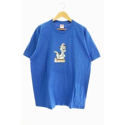 【中古】シュプリーム SUPREME 20SS Dinosaur Tee ダイナソー 半袖Tシャツ L 青 ブルー ブランド古着ベクトル 中古☆AA★201201 0040 メンズ