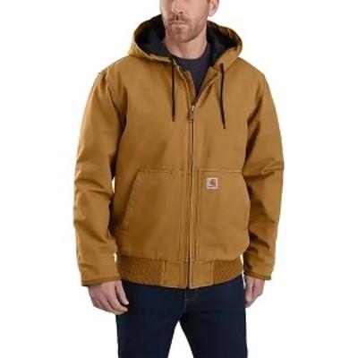 カーハート メンズ ジャケット&ブルゾン アウター J130 Washed Duck Active Jacket - Men's Carhartt Brown
