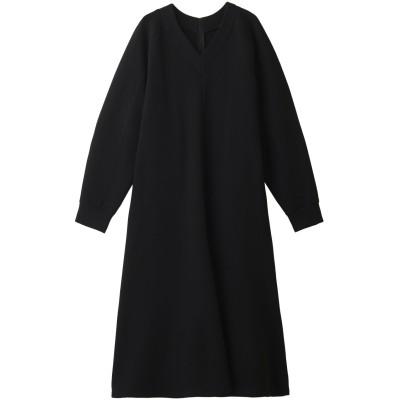 LE CIEL BLEU ルシェルブルー Vネックスウェットドレス レディース ブラック 36
