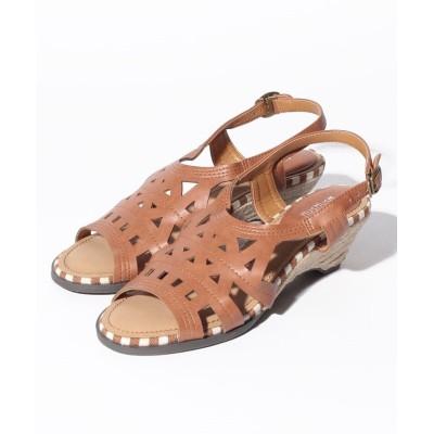 【シューズラウンジ】 [HusHusH] 36045 レディース ブラウン 24.5 shoes lounge