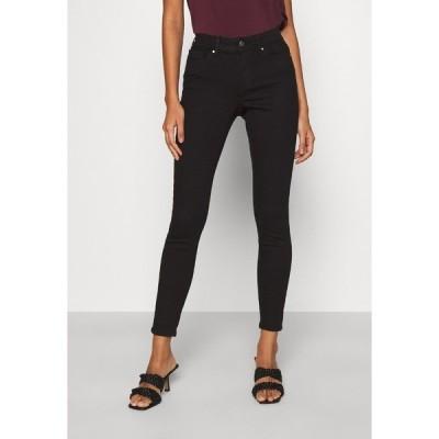 オンリー デニムパンツ レディース ボトムス ONLWAUW LIFE MID   - Jeans Skinny Fit - black denim