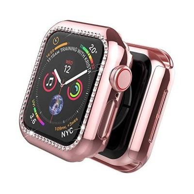 Apple Watch 1/2/3/4/5/6/SE 専用ケース アップルウォッチ6 カバー ラインストーン付け 擦り傷防止 PC材料 軽量 防衝撃