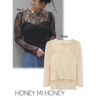 50%OFF  Honey mi Honey ハニーミーハニー lace×camisole tops  17秋冬 17A-AB-05