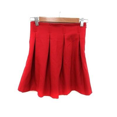 【中古】エモダ EMODA プリーツスカート ミニ M 赤 レッド /MS レディース 【ベクトル 古着】