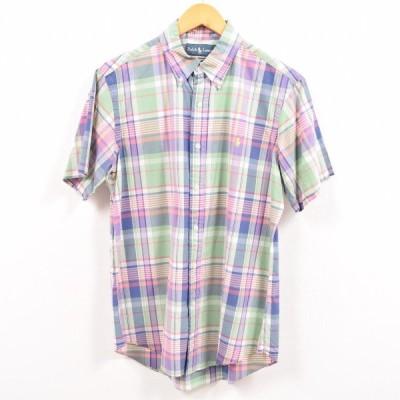 ラルフローレン 半袖 ボタンダウンチェックシャツ M /wbe5450