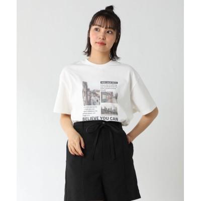 (Honeys/ハニーズ)フォトプリントTシャツ/レディース ホワイト