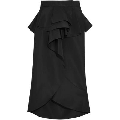JOHANNA ORTIZ 7分丈スカート ブラック 0 シルク 100% 7分丈スカート