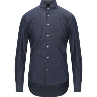 バルバッティ BARBATI メンズ シャツ トップス checked shirt Dark blue