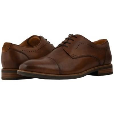 フローシャイム メンズ ドレスシューズ シューズ Uptown Cap Toe Oxford Cognac Leather/Suede