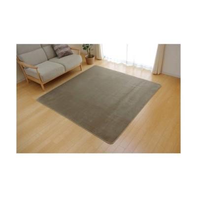 イケヒココーポレーション ラグ カーペット 1畳 洗える 抗菌 防臭 無地 ピオニー ベージュ 約92×185cm (ホットカーペット対応)