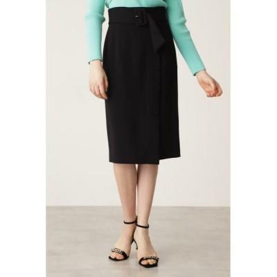 PINKY & DIANNE/ピンキーアンドダイアン くるみドット付きタイトスカート ブラック 38
