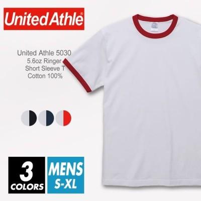 リンガー Tシャツ 無地 メンズ united athle ユナイテッドアスレ 5.6oz 5030-01 s-xl 厚手 スポーツ ダンス シンプル ストリート ファッション