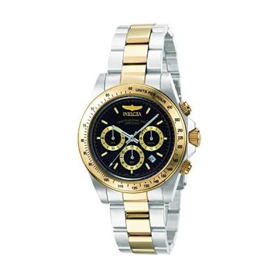[インビクタ] 腕時計 Speedway 石英 39.5mm ケース スチール ゴールド ステンレス鋼ストラップ ブラックダイヤル 9224 メンズ