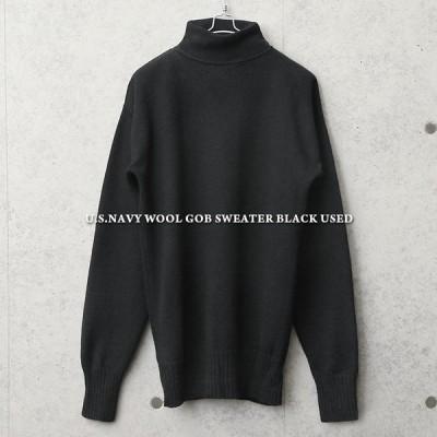 実物 USED 米軍 U.S.NAVY WOOL GOB セーター メンズ ニット ハイネック モックネック タートルネック とっくりセーター ミリタリー 軍服【クーポン対象外】