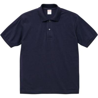 554301-86 6.0オンス ヘヴィーウェイト コットンポロシャツ S〜XL ネイビー ユナイテッドアスレ ポロシャツ メンズ (UNA)(QCB02)