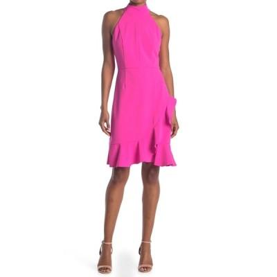 ドナモーガン レディース ワンピース トップス Stretch Knit Crepe Halter Neck Dress ELECTRIC P