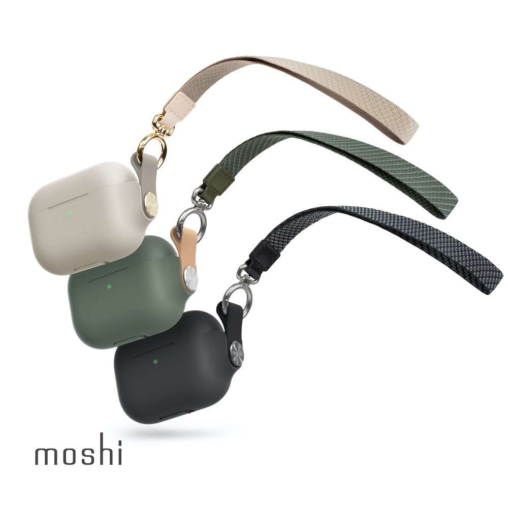 Moshi Pebbo for AirPods Pro 藍牙耳機充電盒保護套 (附可拆式腕帶)