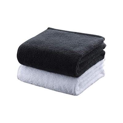 最高級綿タオル ラグジュアリー ミニバスタオル バスタオル 50 100 cm 厚手 高級 (ブラック)