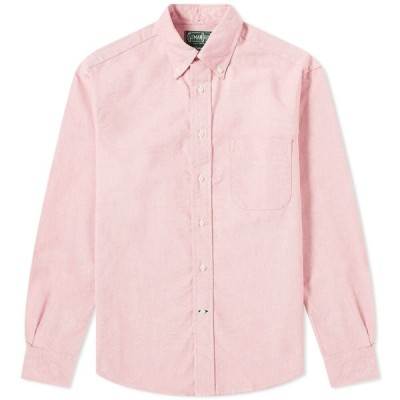 ギットマンヴィンテージ Gitman Vintage メンズ シャツ トップス Oxford Shirt Red