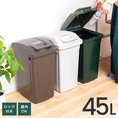 ゴミ箱 屋外 分別 SP ハンドル ペール 45リットル アスベル ASVEL おしゃれ 大型 大容量 45l 45L 蓋付き カラス対策 ベランダ 資源ゴミ ごみ箱