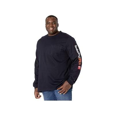 ティンバーランド Extended FR Cotton Core Long Sleeve Pocket T-Shirt with Sleeve Logo メンズ シャツ トップス Navy