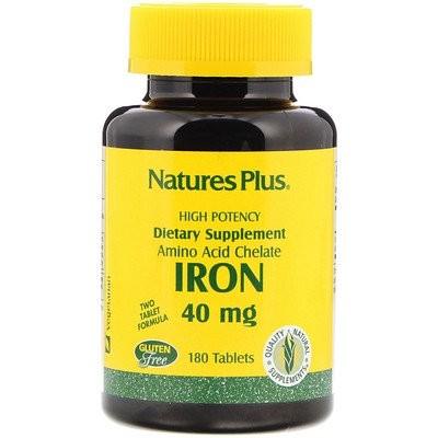 鉄、 40 mg、 180タブレット